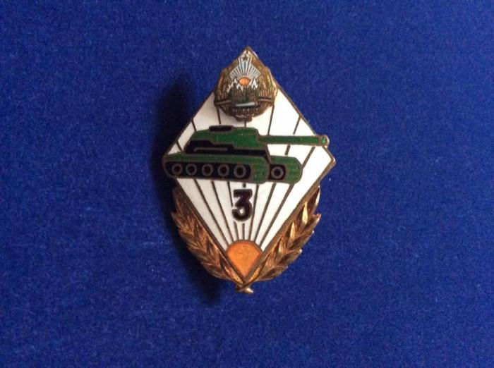 Insignă militară - Insignă România- Specialist de clasă -Tancuri/Tanchist- RSR