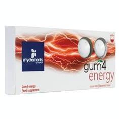 Guma de Mestecat Fara Zahar Gum4 Energy Myelements 10buc Cod: 2995