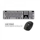 Kit Wireless Tastatura si Mouse HK3960, Fara fir