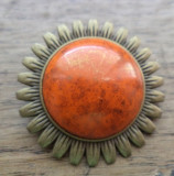 Brosa/pandantiv soare - portelan bronzat marca Puca si bronz