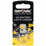 Baterii pentru proteze auditive RAYOVAC 10 Acoustic PR 70 Zinc-Aer 6 baterii / set