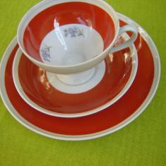 Portelan Wallendorf W 1764, superb set de mic dejun