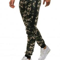 Pantaloni joggers sportivi pentru bărbat camuflaj-bej Bolf HL8519