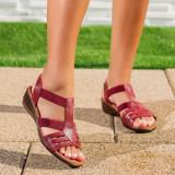 Sandale cu talpa ortopedica dama visinii Mandra