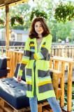Cardigan Sore verde neon cu dungi