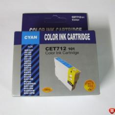 Cartus compatibil NOU Cyan pentru imprimanta Epson Stylus SX200 SX400 D120 DX4000 DX9400 CET712 101