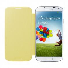 Pachet Folie Sticla + Husa piele Originala Samsung I9500 Galaxy S4 EF-FI950BY