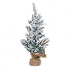 Brad verde nins, 20 x LED, inaltime 50 cm, lumina calda, suport panza