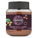 Cumpara ieftin Crema de ciocolata cu lapte si alune de padure bio 350g Biona