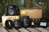 Aparat foto DSLR Nikon D5100+ Obiectiv 50mm 1.4G+ Obiectiv 18-55mm