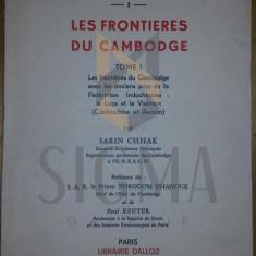SARIN CHHAK, - LES FRONTIERES DU CAMBODGE, 1966 DEDICATIE CATRE CEAUSESCU !!