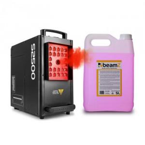 Beamz S2500, mașină de ceață, 2500 W, 24 x 10 W, 4-în-1, LED DMX, rezervor 3.5 l inclusiv lichid 5 litri
