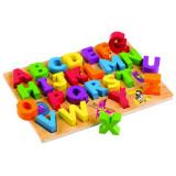 Puzzle alfabet pentru copii Litere mari Tidlo, 30.5 x 22 x 1.5 cm, 2 - 6 ani