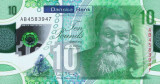 IRLANDA DE NORD █ bancnota █ 10 Pounds █ 2017 █ DANSKE BANK █ POLYMER █ UNC