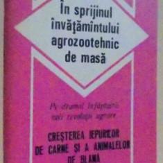 IN SPRIJINUL INVATAMANTULUI AGROZOOTEHNIC DE MASA , CRESTEREA IEPURILOR DE CARNE SI A ANIMALELOR DE BLANA , 1986