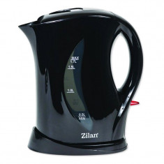 Fierbator electric Zilan, 1.7 l, 2200 W, Negru