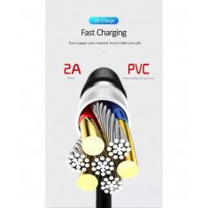 Cablu Date Usams Fast Charger U18 Round Type-C US-SJ267 Alb