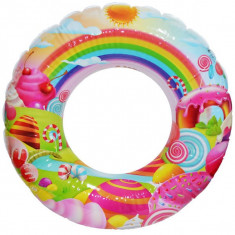 Colac baie gonflabil, cu desene, 80 cm