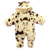 Cumpara ieftin Combinezon plusat bebelusi - Girafa (Marime Disponibila: 6-9 luni (Marimea 19...