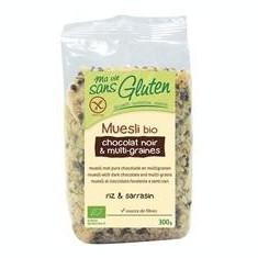 Musli Bio Multicereale cu Ciocolata Neagra Fara Gluten Ma Vie Sans Gluten 300gr Cod: 3380380074318