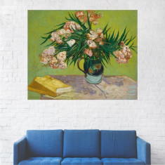 Tablou Canvas, Pictura Artistica, Vaza cu Flori, Trandafiri Albi - 40 x 50 cm
