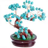 Copacel Feng Shui cu pietre protectoare de turcoaz