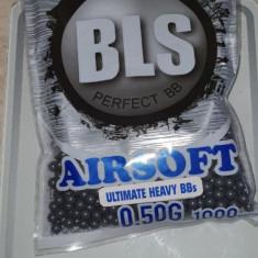 2 Pungi bile airsoft BLS 0.50 grame de 1000