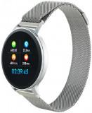 Cumpara ieftin Smartwatch Canyon SW71SS, Display LCD 1.22inch, Bluetooth, Bratara Metal, Rezistent la apa, Android/iOS (Argintiu)