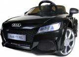 Masinuta electrica Audi TT RS pentru copii, cu volan, telecomanda si licenta, capacitate 30kg, culoare negru