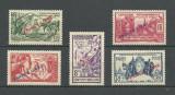 INDIA - ( COLONIE  FRANCEZA )   SERIE COMPLETA 1941 MH, Nestampilat