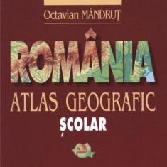 Romania - Atlas Geografic Scolar | Octavian Mandrut