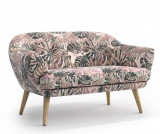 Canapea 2 locuri Elsa Cream - Optisofa, Crem