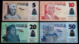 LOT SET 4 bancnote Nigeria 5 10 20 50 Naira 2017 2019 polimer UNC necirculate **