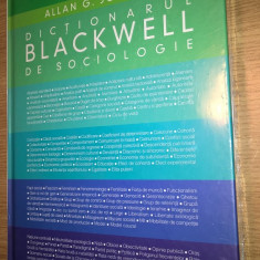 Allan G. Johnson - Dictionarul Blackwell de sociologie (Editura Humanitas, 2007)