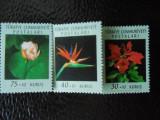 Serie timbre flora flori plante Turcia nestampilate