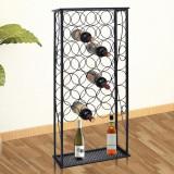 Cumpara ieftin vidaXL Suport sticle de vin pentru 28 de sticle, metal