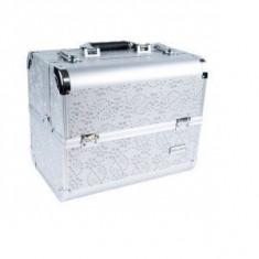 Geanta mare pentru produse Manichiura Silver cu Cristale 6283AC-SL