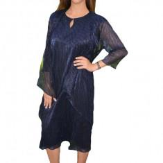 Rochie Zefera cu cartigan asimetric ,nuanat de bleumarin