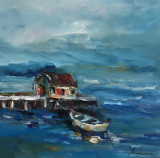 Tablou ulei( 25/25 cm)- MARINA