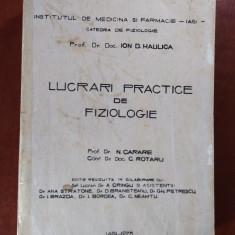 CURS LUCRĂRI PRACTICE DE FIZIOLOGIE - ION D. HAULICA