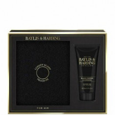 Set cadou Baylis & Harding Black Pepper & Ginseng (Fular + Gel de dus, 200 ml)