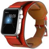 Curea pentru Apple Watch 44mm Piele 4 in 1 iUni Cuff Rosu