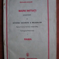 Edouard Schure - Marii initiati, prezentare a istoriei secrete a religiilor