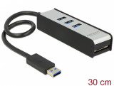 HUB USB 3.0 3 porturi + slot SD, Delock 62535