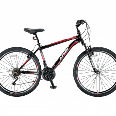 "Bicicleta MTB Umit Kronos V , Culoare Negru/Rosu , Roata 26""PB Cod:26471000002, V-brake"