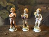 Vintage - lot bibelouri din ceramica / copil cu lemne struguri si cereale !