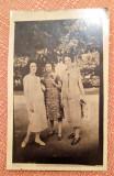 Grup de 3 femei - Fotografie datata 1926, Bucuresti (probabil Parcul Carol), Alb-Negru, Portrete, Romania 1900 - 1950
