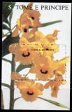 SAO TOME PRINCIPE 1992, Flora, bloc neuzat, MNH, Nestampilat