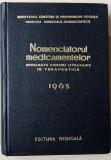 Nomenclatorul medicamentelor aprobate pt. utilizare in terapeutica 1965