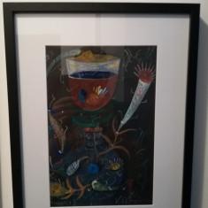 Guașă realizată de artistul Ștefan Pelmuș, Nonfigurativ, Guasa, Altul
